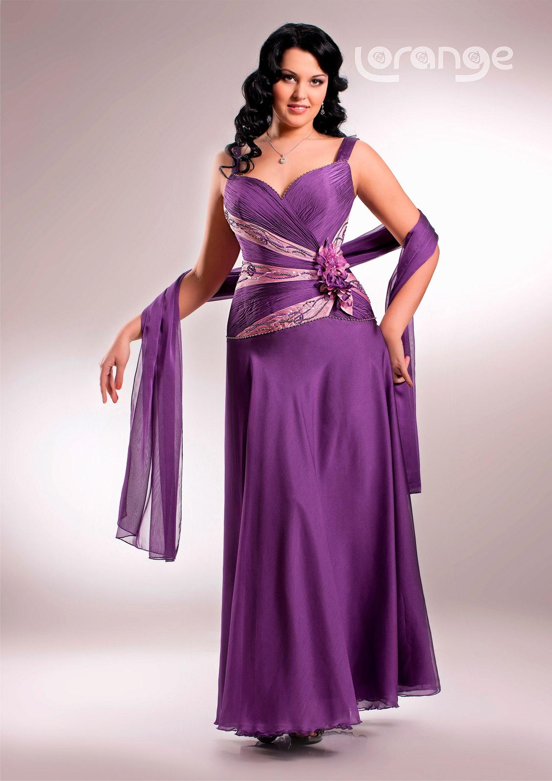 Платье вечернее больших размеров