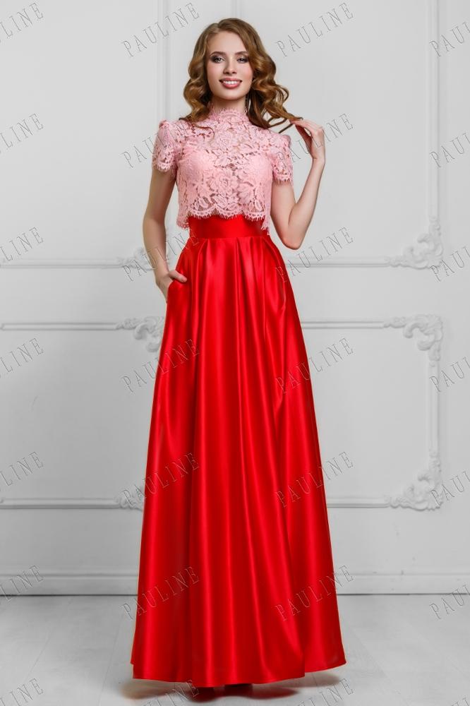 Платье из топа и юбки на выпускной