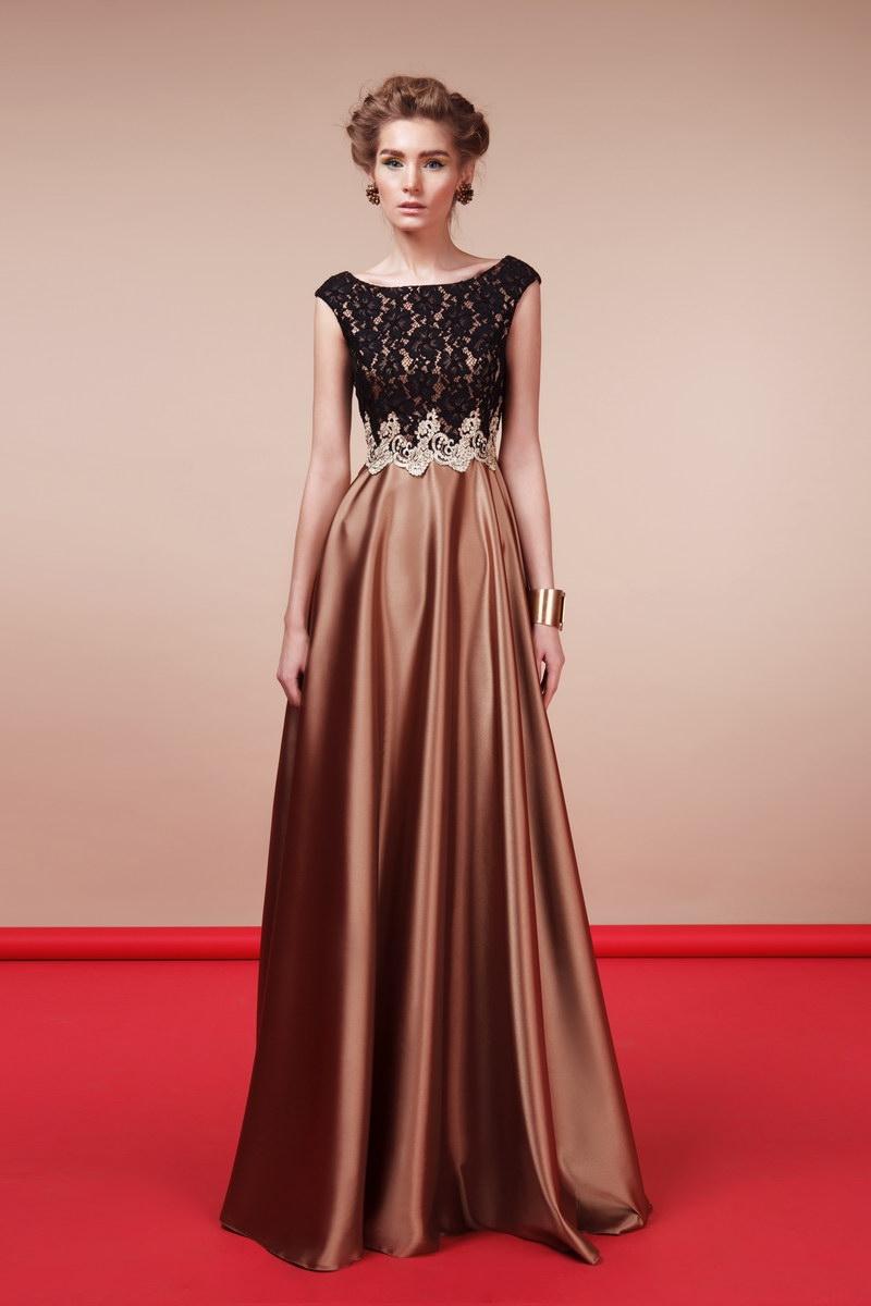 2298a2fbea2 вечернее платье EMSE модель 0214 ( цена 16800руб) черное с золотом ...